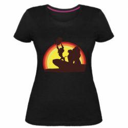 Женская стрейчевая футболка Lion king silhouette