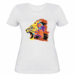 Женская футболка Lion multicolor