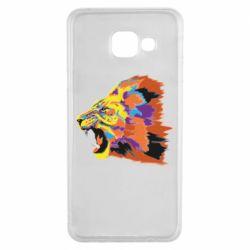Чехол для Samsung A3 2016 Lion multicolor