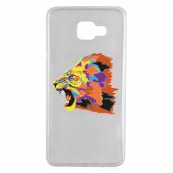 Чехол для Samsung A7 2016 Lion multicolor