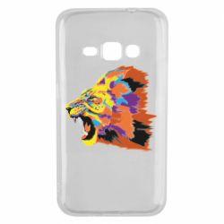Чехол для Samsung J1 2016 Lion multicolor