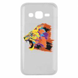 Чехол для Samsung J2 2015 Lion multicolor