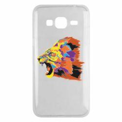 Чехол для Samsung J3 2016 Lion multicolor