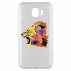 Чехол для Samsung J4 Lion multicolor