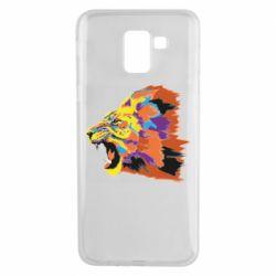 Чехол для Samsung J6 Lion multicolor