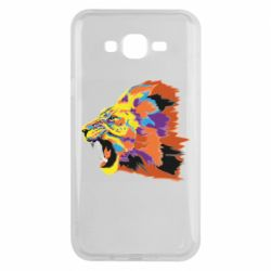 Чехол для Samsung J7 2015 Lion multicolor