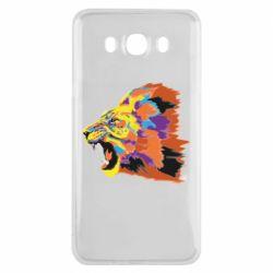 Чехол для Samsung J7 2016 Lion multicolor