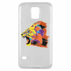 Чехол для Samsung S5 Lion multicolor