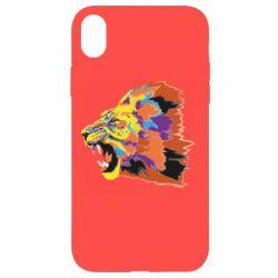 Чехол для iPhone XR Lion multicolor