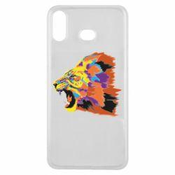 Чехол для Samsung A6s Lion multicolor