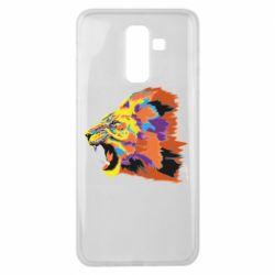 Чехол для Samsung J8 2018 Lion multicolor
