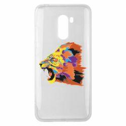 Чехол для Xiaomi Pocophone F1 Lion multicolor