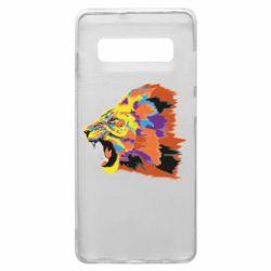 Чехол для Samsung S10+ Lion multicolor