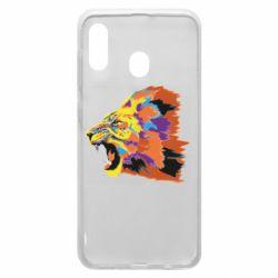 Чехол для Samsung A20 Lion multicolor