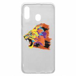 Чехол для Samsung A30 Lion multicolor