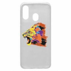 Чехол для Samsung A40 Lion multicolor