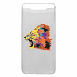 Чехол для Samsung A80 Lion multicolor