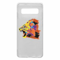 Чехол для Samsung S10 Lion multicolor
