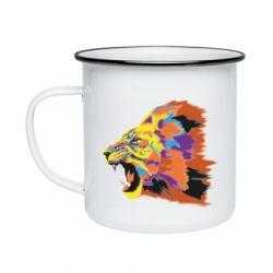 Кружка эмалированная Lion multicolor