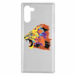 Чехол для Samsung Note 10 Lion multicolor
