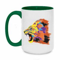 Кружка двухцветная 420ml Lion multicolor