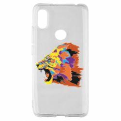 Чехол для Xiaomi Redmi S2 Lion multicolor