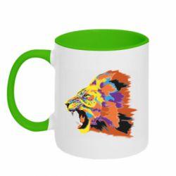 Кружка двухцветная 320ml Lion multicolor
