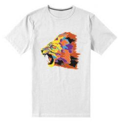Мужская стрейчевая футболка Lion multicolor
