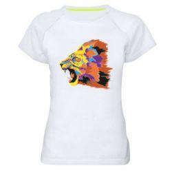 Женская спортивная футболка Lion multicolor