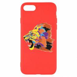 Чехол для iPhone 7 Lion multicolor