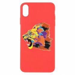 Чехол для iPhone X/Xs Lion multicolor