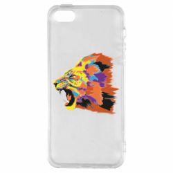 Чехол для iPhone5/5S/SE Lion multicolor