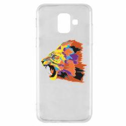 Чехол для Samsung A6 2018 Lion multicolor