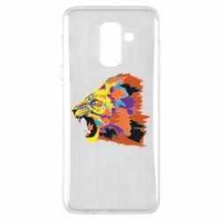 Чехол для Samsung A6+ 2018 Lion multicolor