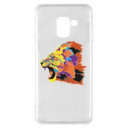Чехол для Samsung A8 2018 Lion multicolor