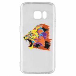Чехол для Samsung S7 Lion multicolor