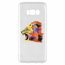 Чехол для Samsung S8 Lion multicolor