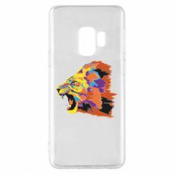 Чехол для Samsung S9 Lion multicolor