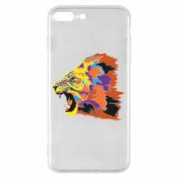 Чехол для iPhone 8 Plus Lion multicolor