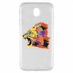 Чехол для Samsung J7 2017 Lion multicolor