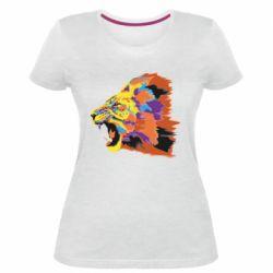 Женская стрейчевая футболка Lion multicolor