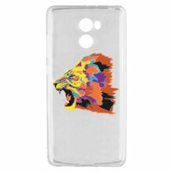 Чехол для Xiaomi Redmi 4 Lion multicolor