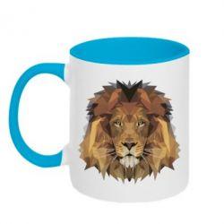Кружка двухцветная Lion Poly Art
