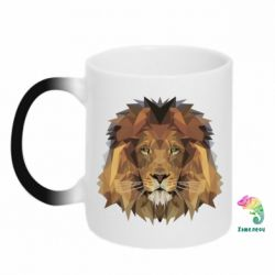 Кружка-хамелеон Lion Poly Art