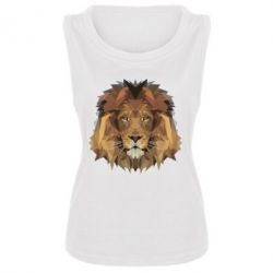 Женская майка Lion Poly Art