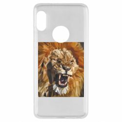 Чехол для Xiaomi Redmi Note 5 Lion roars low poly style