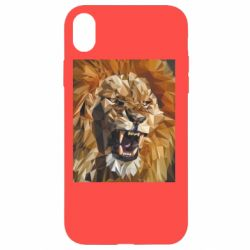 Чохол для iPhone XR Lion roars low poly style