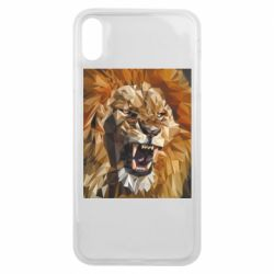 Чохол для iPhone Xs Max Lion roars low poly style