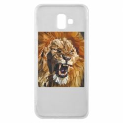 Чохол для Samsung J6 Plus 2018 Lion roars low poly style