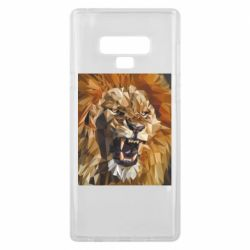 Чехол для Samsung Note 9 Lion roars low poly style